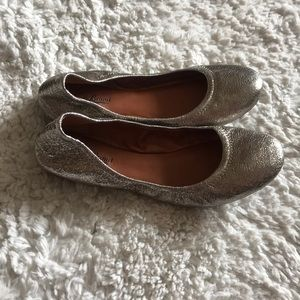 Lucky Brand Silver Flats Size 8